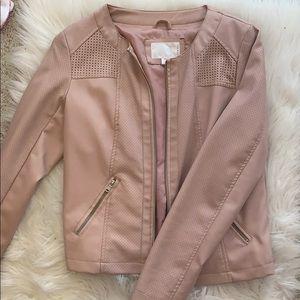Faux leather blush jacket/blazer